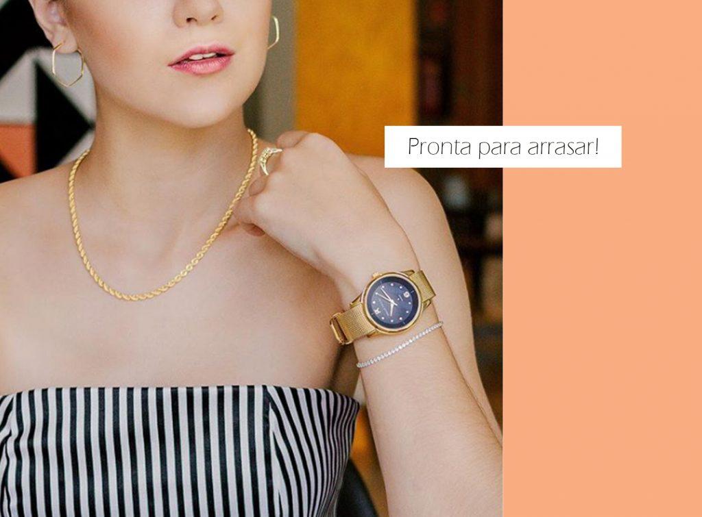 Relógios Feminino Dia da Mulher Joias Vip
