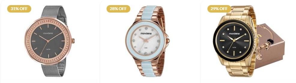 Relógios em promoção dia da mulher joias vip
