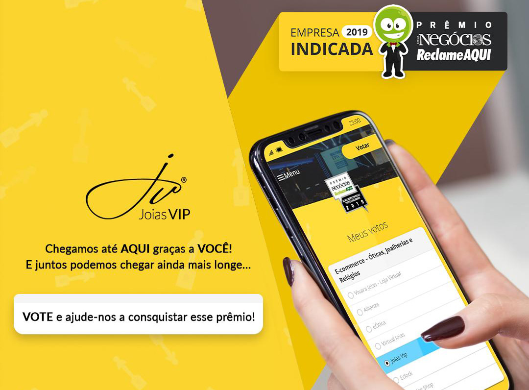 Premio Negócios Reclame Aqui 2019 Joias Vip