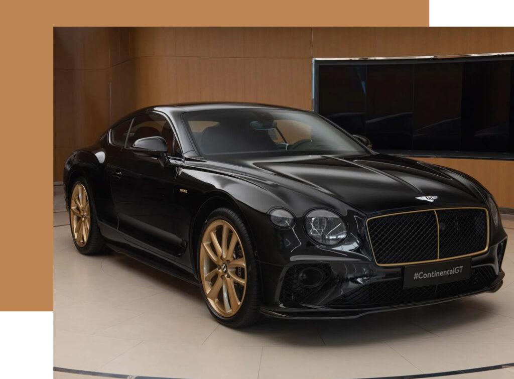 Carros incríveis com acabamento em ouro!