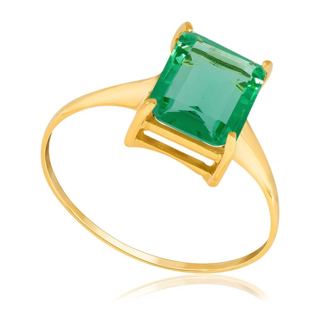 Anel de Ouro com Esmeralda Fusion de 2,2 Cts