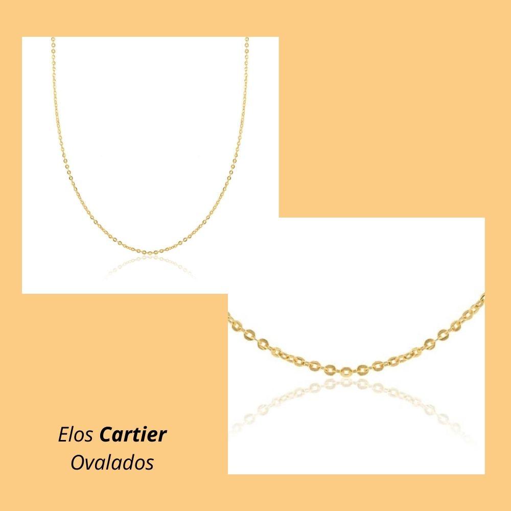 Corrente em Ouro Amarelo 18k com Elos Cartier Ovalados
