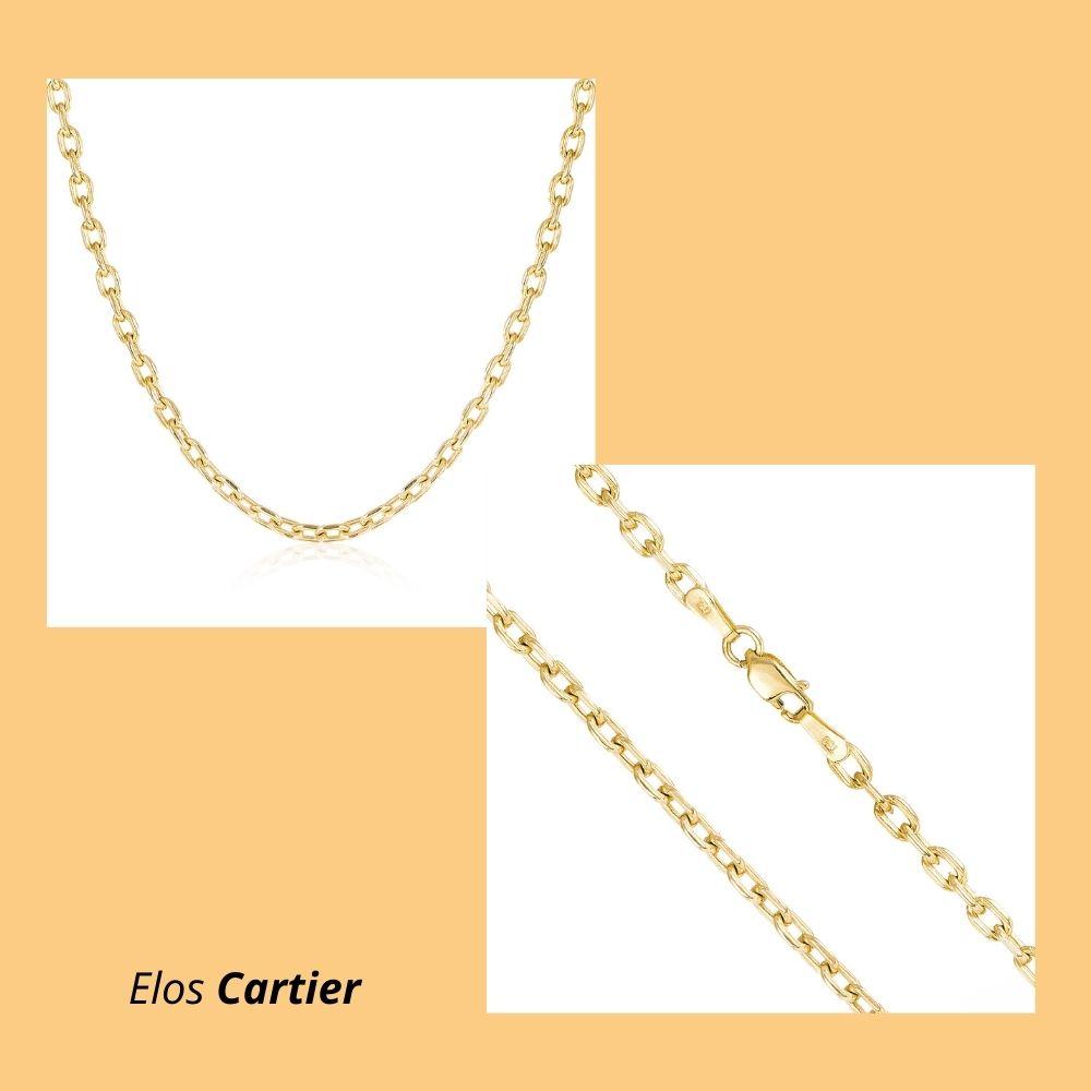 Corrente em Ouro Amarelo 18k com Elos Cartier