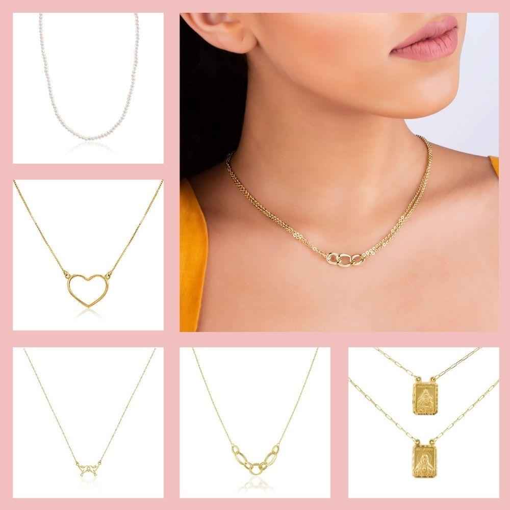 colares de ouro 18k