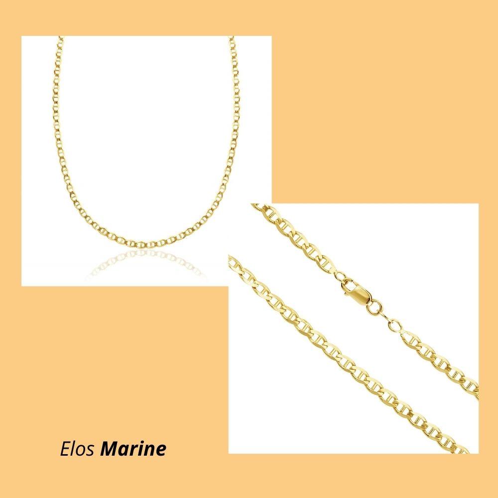 Corrente em Ouro Amarelo 18k com Elos Marine