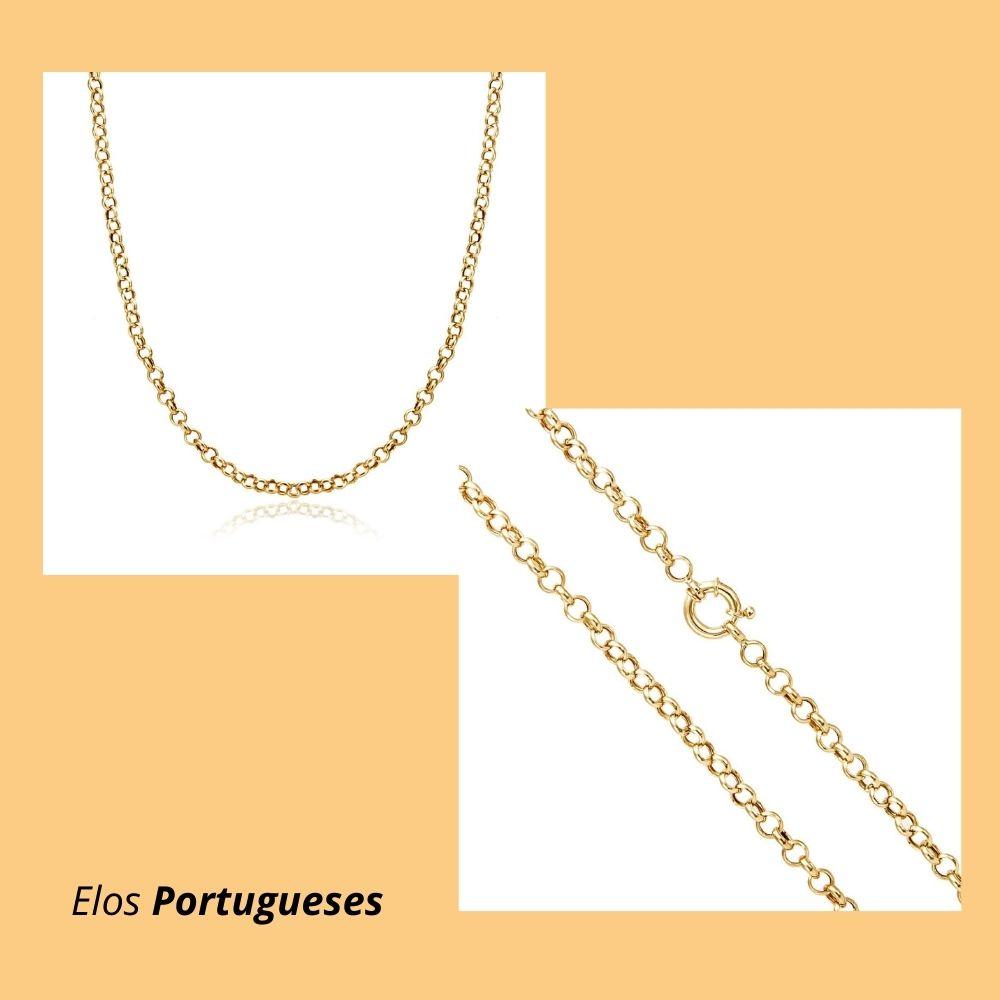 Corrente em Ouro Amarelo 18k com Elos Portugueses