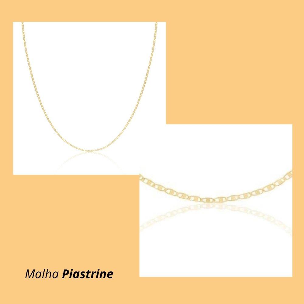 Corrente em Ouro Amarelo 18k com Malha Piastrine