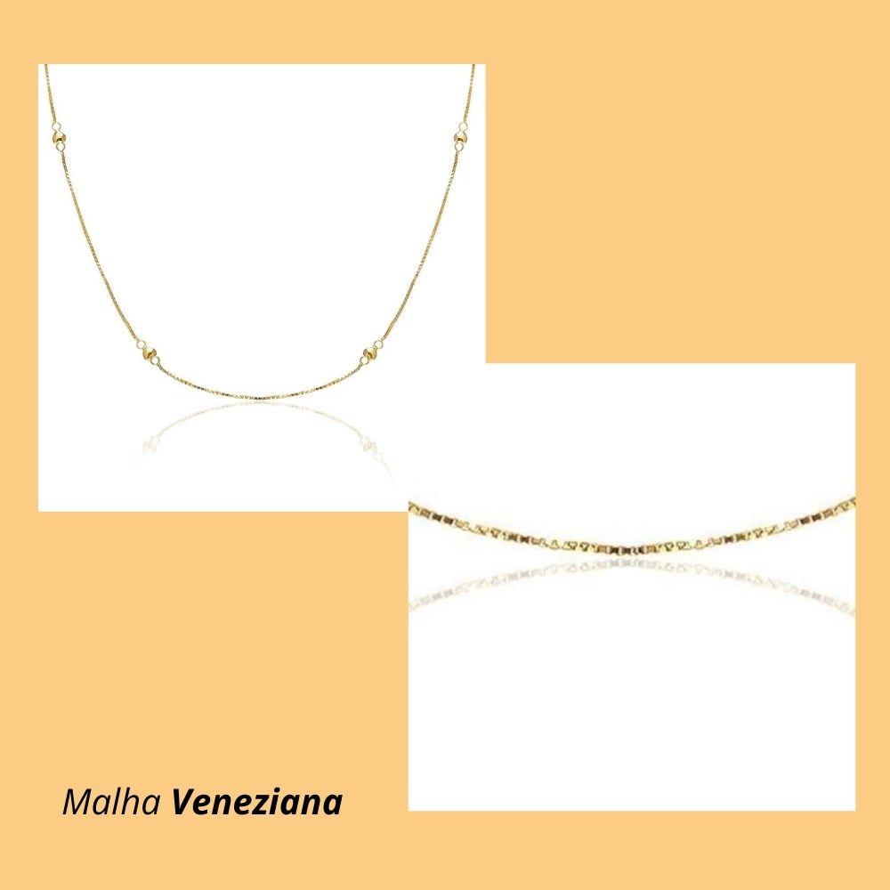 Corrente em Ouro Amarelo 18k com Malha Veneziana