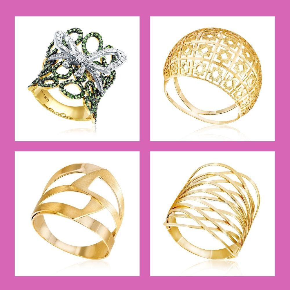 Anéis  estilos universais moderno
